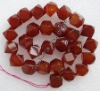 Red agate jewelry beads