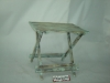 antique wooden foldable table in garden