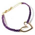 Gold plated fashion bracelet with heart pendant