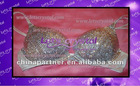 Crystals diamond & jewel T-Shirt Bra Any Cups Size A-G(100% HAND MADE)