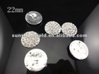 22mm Clear Alloy Full Of Crystal Buttons Spark Rhinestone Buttons Decoration Accessory