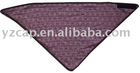 two layers triangle bandana (cotton on one side, polar fleece on another side)