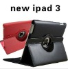 For ipad case iPad 2 New iPad 3 with 360 degrees rotatable smart cover (IP226)