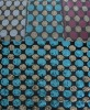 Double Colors 3MM sequin /spangle on embroidered /embroidery fabric