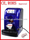 coffee machine for espresso with coffee pods