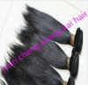 Unprocessed raw remy indian human hair weft Unprocessed natural black ,natural brown raw human hair