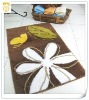 colorful South Korea silk door mat with modern design for toilet