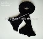 custom design plain black knitting pattern feather yarn scarf