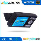 New Arrival 1080P Full HD Car DVR with H.264 Compression/HDMI and AV Out ROCAM V3 Dash Cam