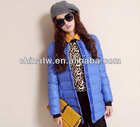 ek1432 Korean style Plain O Collar Ladieds Warm Cotton-padded Jackets With Scarf