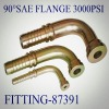 Fitting 87391-90 Degree SAE FLANGE 3000PSI