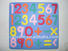 light Blue Eva foam magnetic letters for kids education