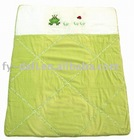 Green frog Baby quilt