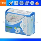 Carefree 3D design, Herbal Anion Scene absorbent core,sanitary napkin with fluff pulp+SAP