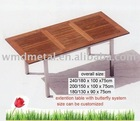 T001MS extendable table,stainless steel teak tea table ,garden furniture