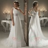 2012 fashion one shoulder chiffon wedding gown WD-015