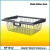 CBW Metal Clothes Basket Rack with Chrome Finish and Satin Nickel Surface Treatment