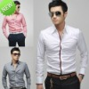NWT Mens Casual Slim Fit Stylish Dress Shirts 3Colours 4Size h307