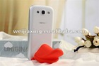 silicone holder plus earphone winder for apple iphone 4 4s