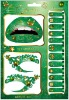 MC002/ Christmas colorful series of Green set sticker / Lip Sticker+Eye Sticker +12 Nail Sticker+Small File