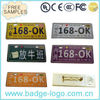 novelty cheap custom metal custom metal clothing labels