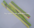 Beautiful design multi-color plastic zipper with rainbow slider