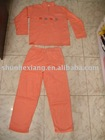 Orange Embroidery pajamas