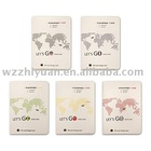 PVC Passport Holder with Clear Inner Pocket for Credit Card