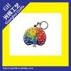 soft pvc key chain/couple key chain