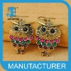 hot sale alloy owl rhinestone earings wholesale