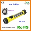 Hot sales!!! 2011 new design indoor and outdoor used rechargeable solar power plastic led torch CE,ROSH