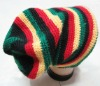 Rasta Hat Rastafari Stripe Tam Hat Tall Beanie RH007