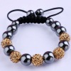 Wholesale Jewelry Crystal 10MM Bead Handmade Shamballa Bracelet