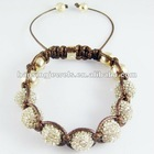 2012 hot crystal disco ball shamballa bracelet