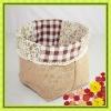 Jute Fabric Folding Storage Basket