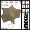 For gift recyclable star type E corrugated board advertising box