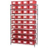 NSF Chrome Wire Shelving for Warehouse Storage