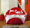Red Leather Sofa Bed C1011