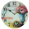Flower Design Retro Wall Clock