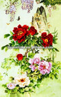 3D flower design custom plastic print place mat