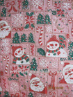 christmas printed tulle fabric