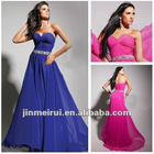 Inexpensive Beaded waist A-Line Custom Made Sweetheart Long Prom Dress 2012