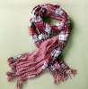 Double Thick Warm Checked Viscose Scarf