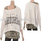 2013 Latest Design Cotton Chiffon Ladies Top