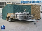 Hard floor camper trailer HFC11 with tent (awning+annex walls)
