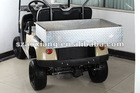 Diamond polished aluminium Cargo Box for Club Car DS, quality custom golf cart parts with specialty bracket and hardware