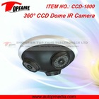CCD-1000 new CCTV camera with three lens 270 degree wide range view ideal for monitoring entrances, hotel, school, shops, etc.
