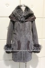 Fur jacket Lamb double face jacket with Raccon fur collar (ELS-2327)