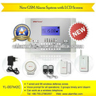 Wireless remote control panel GSM SMS Alert burglar alarm systems with voice intercom