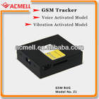 Z1 GSM Tracker Voice/Vibration Trigger call back small listening device
